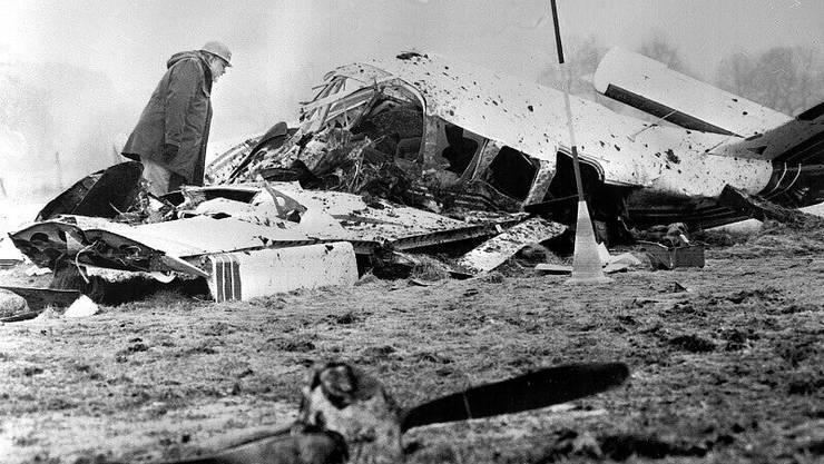 Am 17. Februar 1982 kroch Hoeness aus diesem Flugzeugwrack.