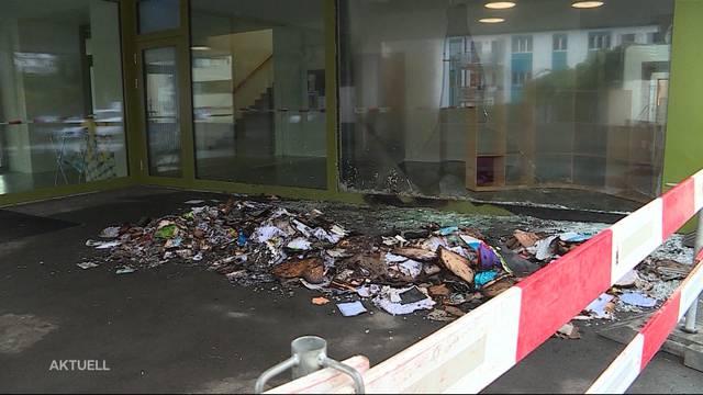 Brand in Schulhaus Lenzburg