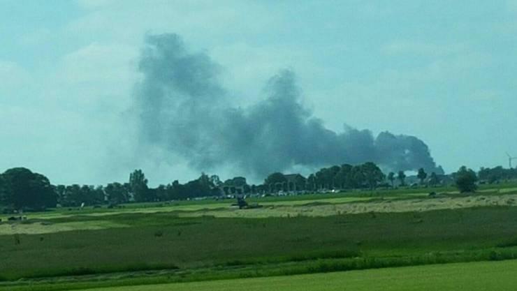 Ein F5-Tiger-Kampfflugzeug der Schweizer Armee ist in den Niederlanden abgestürzt.