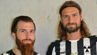 Die neuen Spieler Christian Wipf (links) und Dennis Krause (rechts)