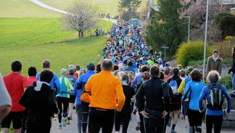 Über 400 Läuferinnen und Läufer waren am ersten Froburg-Berglauf dabei.