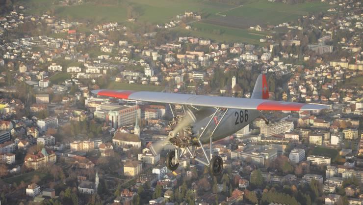 Das ist der Flugzeug-Oldtimer Dewoitine D.26 «Stadt Grenchen»