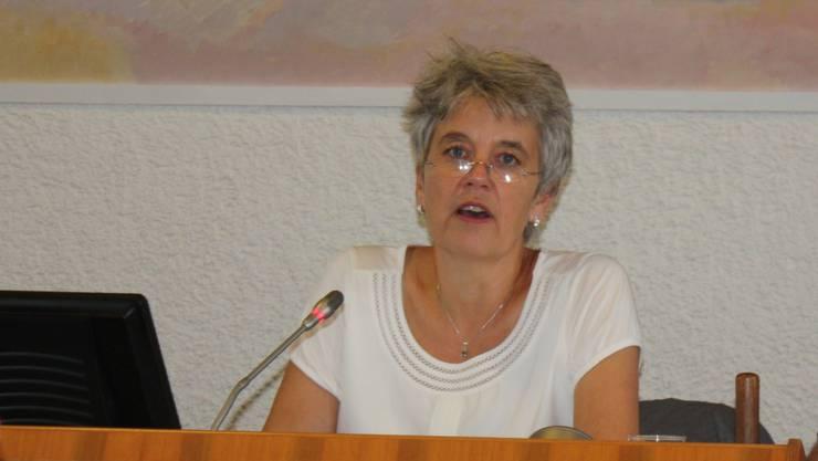 Daniela Gauglers Rede bei einer Landratssitzung.