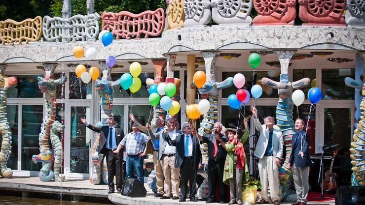 Farbige Ballone zur Eröffnung