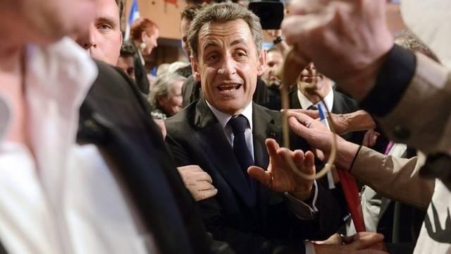 Französischer Präsident Sarkozy im Wahlkampf