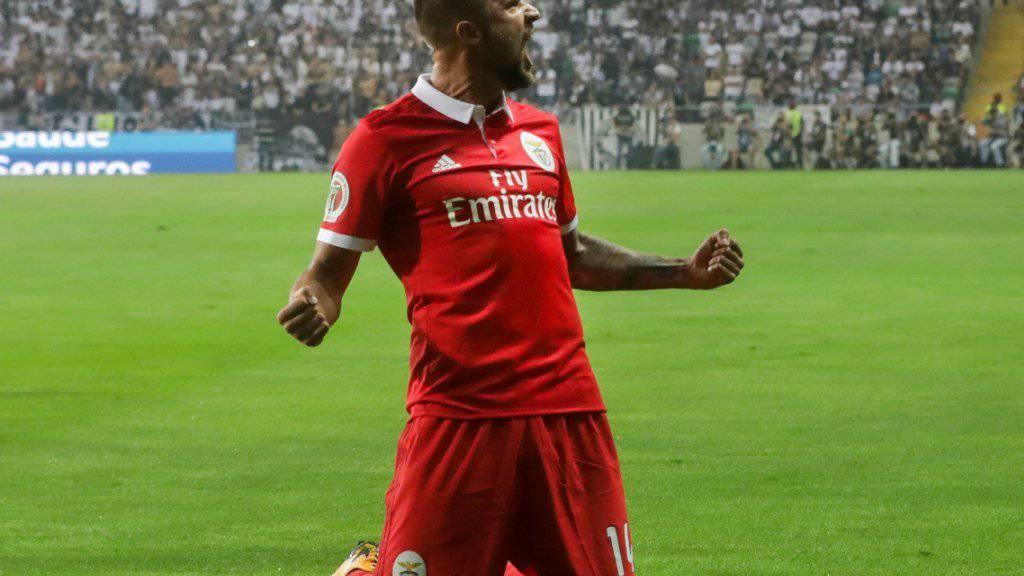 Traf für Benfica Lissabon im portugiesischen Supercup gegen Guimarães zum 2:0: der Schweizer Internationale Haris Seferovic