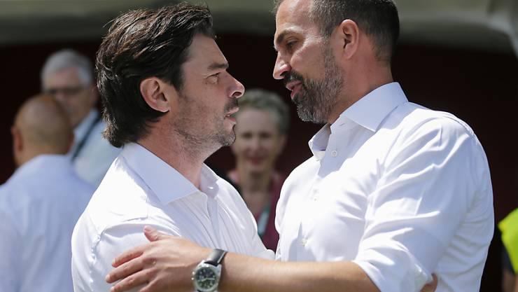 Zwei ehemalige Teamkollegen: Ciriaco Sforza und Markus Babbel