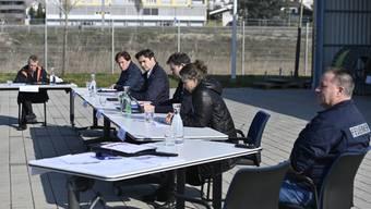 v.l.: Per Just, Hubert Bläsi, François Scheidegger, Christian Ambühl, Christina Pitschen, Thomas Maritz.