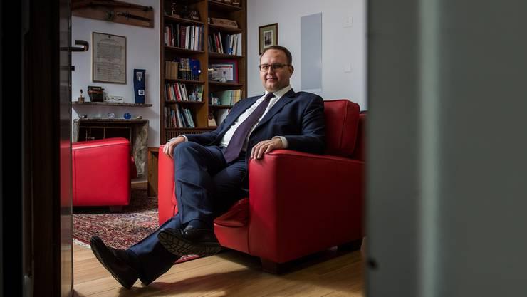 «Die Schweiz muss selbstbewusster auftreten». Norman Gobbi, seit 2011 Staatsrat für die Lega dei Ticinesi. Gabriele Putzu/ti-press/keystone