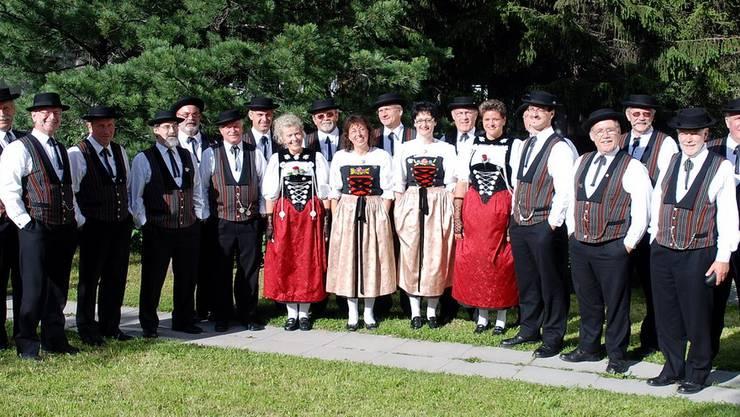 Die Stadt Jodler Dietikon am 26. Nordostschweizerischen Jodlerfest in St. Moritz  im Juni 2007.