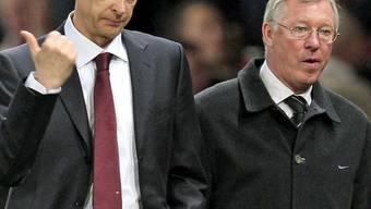 Arsenals Arsene Wenger und ManUs Sir Alex Ferguson