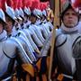 Vereidigung der Schweizer Gardisten muss wegen dem Corona-Virus verschoben werden.