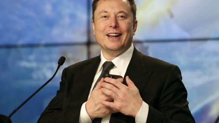 Elon Musk ist nun auch Musiker. Jedenfalls hat er nach eigenen Angaben einen Song komponiert und den Text dazu geschrieben. (Archiv)