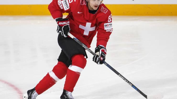 Sven Andrighetto war an der letzten WM mit drei Toren und fünf Assists der beste Schweizer Skorer