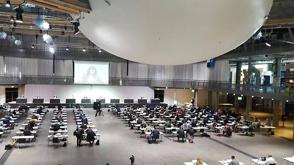 Der Aargauer Grosse Rat tagte seit Mai wegen der Corona-Pandemie in einem Saal in Spreitenbach AG. (Archivbild)