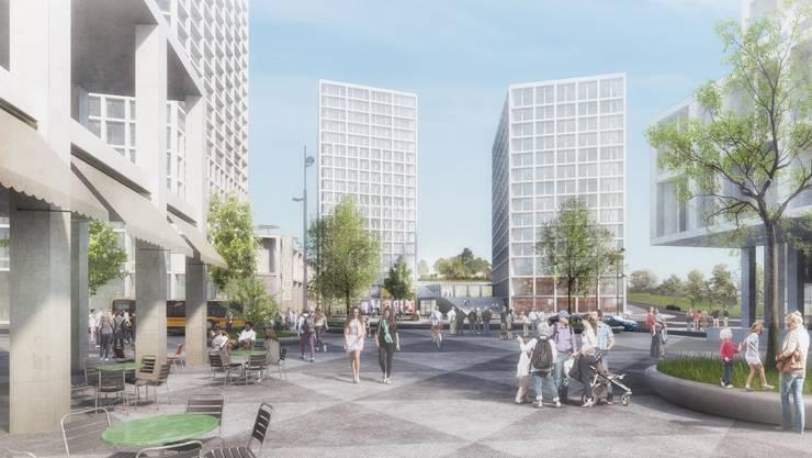 Die Kinosäle waren im Ostteil des zukünftigen Muttern Quartiers Hagnau unter den beiden Hochhäusern geplant gewesen.
