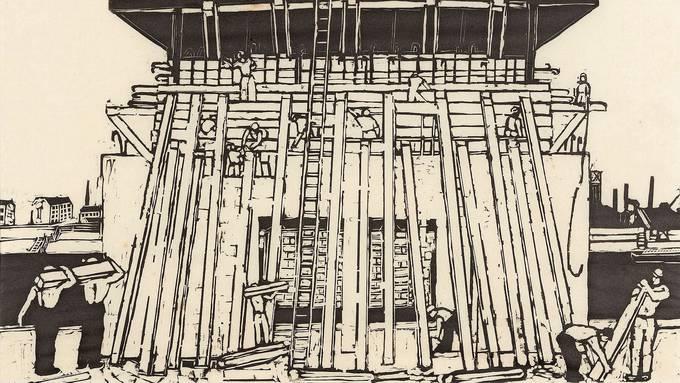 Rudolf Maeglins «Widerlager der Dreirosenbrücke» (1934) wird in die Sammlung des Kunstkredit aufgenommen.