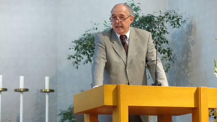 Rektor Kurt Wiedemeier
