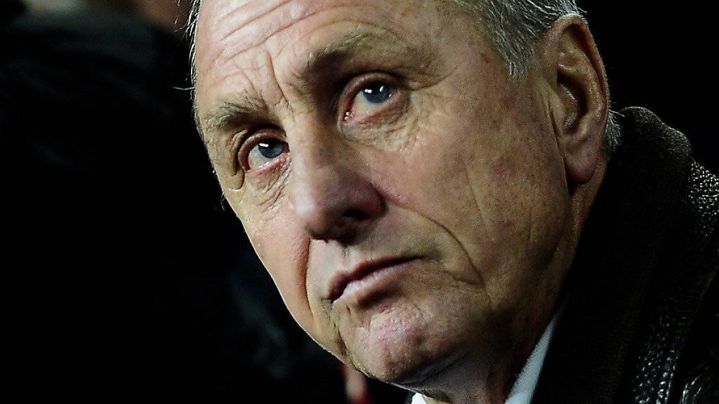Der Niederländer Johan Cruyff ist im Alter von 68 Jahren gestorben