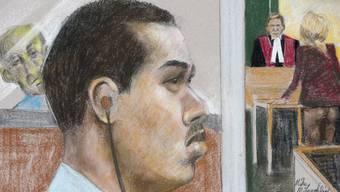 Der so genannte Pornomörder Magnotta im Gericht in Montreal