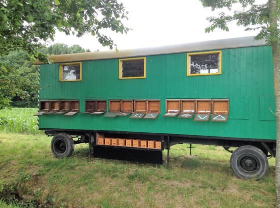 So sah der Bienenwagen von David Studer aus, bevor er verschwand.