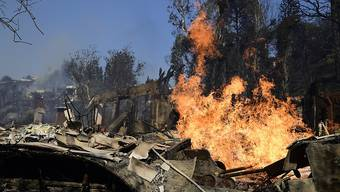 Das Feuer im Promi-Viertel Bel Air zerstörte sechs Häuser und beschädigte zwölf weitere. (Archivbild)