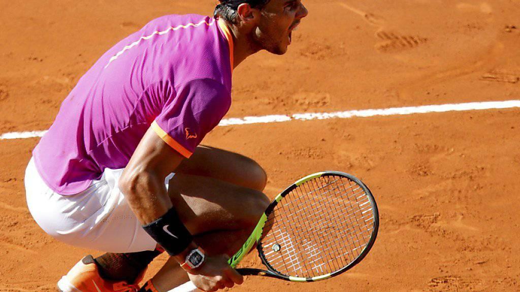 In Topform auf Sand: Rafael Nadal