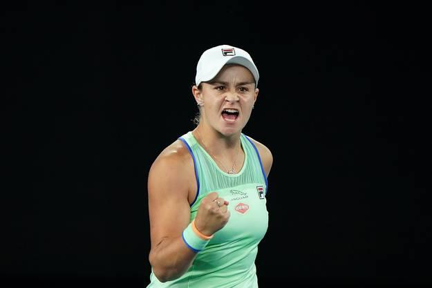 Sehr gute Tennisspielerin, und sehr gute Athletin: Ashleigh Barty.