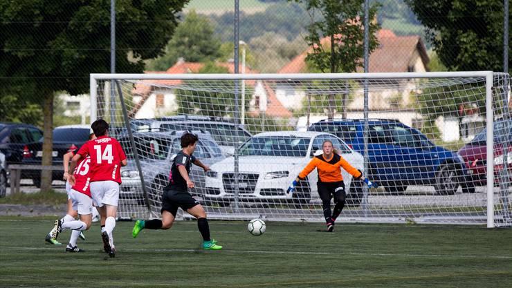 Flügel Antje Notter im Abschluss: Die FC Aarau Frauen wollen in dieser Saison offensiv auftreten.