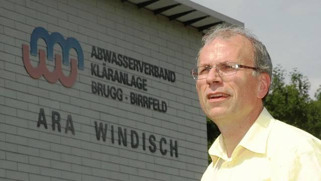 Heinz Wipfli, der Präsident des Abwasserverbands, freut sich über den Beginn der Bauarbeiten in der Abwasserreinigungsanlage.