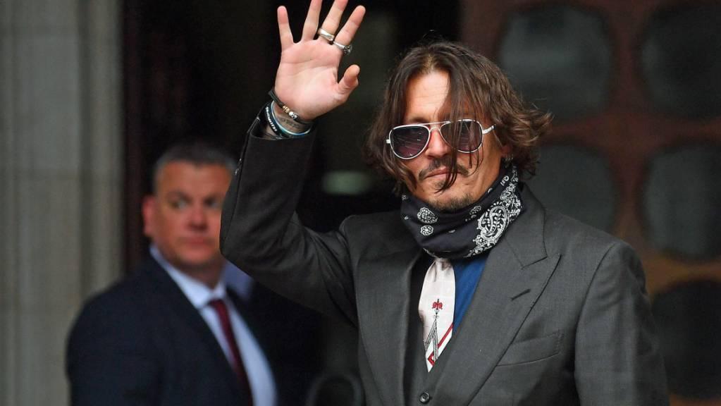 US-Schauspieler Johnny Depp trifft am High Court in London ein.