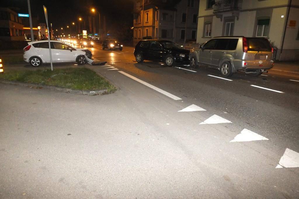 Unfall in Wil (© KAPO St.Gallen)