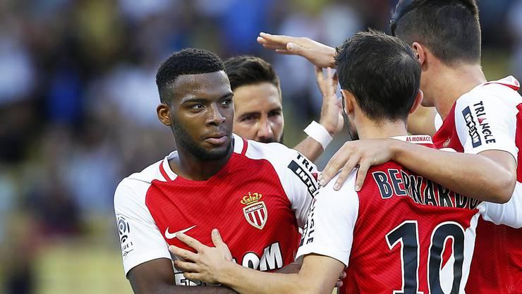 Thomas Lemar (links) traf für Monaco am Samstag zweimal