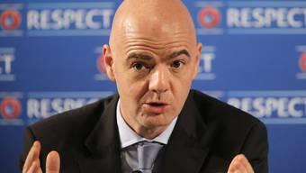UEFA-Generalsekretär Gianni Infantino wird vom Schweizer Verband für die FIFA-Präsidentenwahl unterstürzt