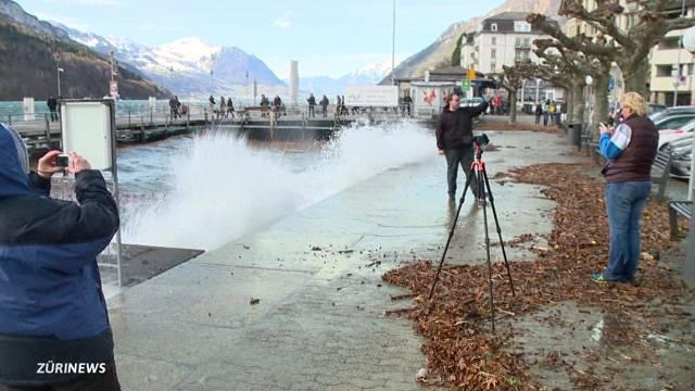Föhnsturm fegt über Schweiz