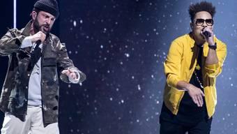 Rapper Bligg (links) organisiert das erste Schweizer Drive-In Festival und tritt - wie auch Kollege Marc Sway (rechts) - gleich selber auf.