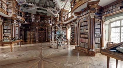 von panomedia (Webseite Stiftsbibliothek) da man im Saal nicht fotografieren durfte