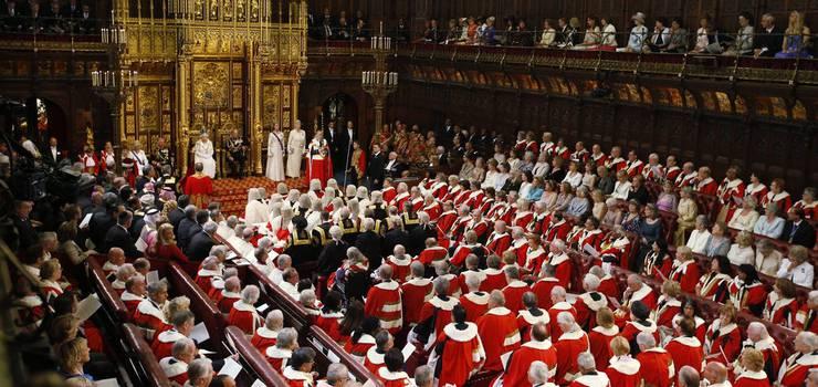 Das House of Lords. Das Bild vergrössert sich durch Anklicken.