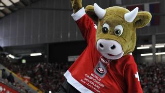 Das Schweizer Maskottchen Cooly ist an der Heim-WM in Zürich und Lausanne auch wieder mit von der Partie