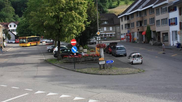 Dorfplatz in Reigoldswil (Archiv)