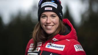Lena Häcki beim Foto-Termin zu Saisonbeginn.