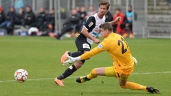 """Dusan Djuric (hier im Spiel gegen Freiburg) ist für das """"Best Goal 2014"""" nominiert."""