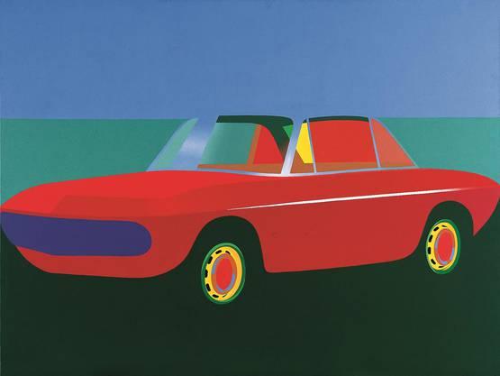 Markus Müller malte Autos wie «Fulvia» (1968) nach Prospekten.