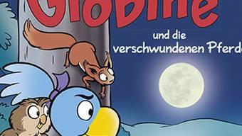 """Globine und ihre Freunde, das Eichhörnchen und die Eule, müssen im neuen """"Globine""""-Buch einen Kriminalfall lösen."""