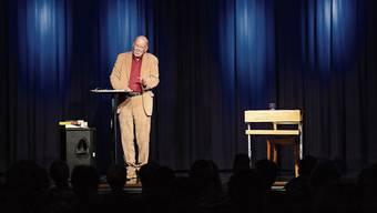 Im Kleintheater Grenchen erzählte Franz Hohler so manche unglaubliche Geschichte.