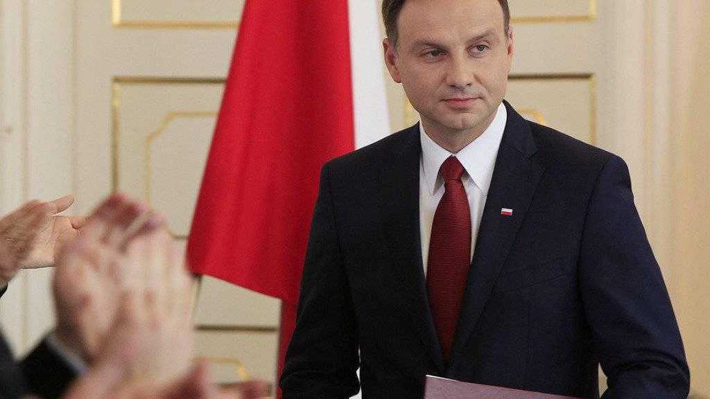 Der polnische Präsident Duda hat die Neufassung des Gesetzes zum Verfassungsgericht unterschrieben. (Archiv)