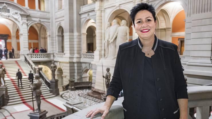 «Es ist jedes Mal beeindruckend, wenn ich die Treppe zur Statue der drei Eidgenossen im Bundeshaus hinaufsteige», sagt Daniela Schneeberger.