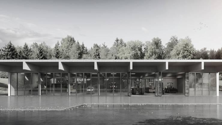 So soll der Werkhof des kantonalen Gewässerunterhalts dereinst aussehen.