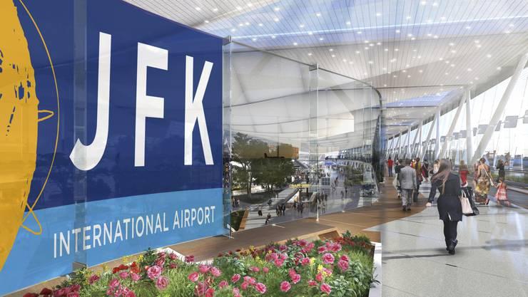 Zwei neue Terminals: Der New Yorker Flughafen Johne F. Kennedy soll bis 2025 für 13 Milliarden Dollar ausgebaut werden. (Computerbild)