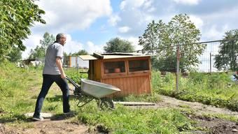 Hansruedi Luginbühl, Gesamtleiter Haus Morgenstern, freut sich mit den Bewohnern auf den neuen Tiergarten.